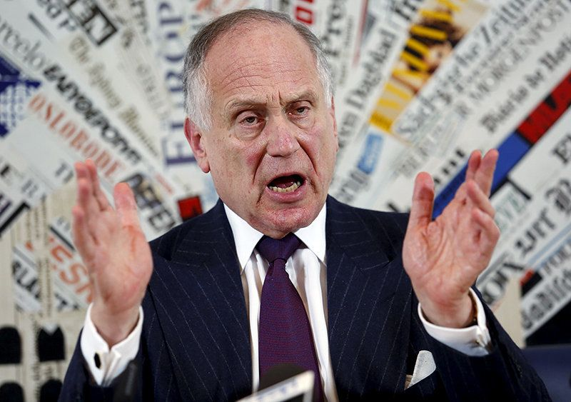 World Jewish Congress president Ronald Lauder speaks with journalists at the foreign press space, downtown Rome, Italy, on October 28, 2015. Photo courtesy of REUTERS/Remo Casilli*Editors: This photo may only be republished with RNS-VATICAN-JEWISH, originally transmitted on Oct. 28, 2015.