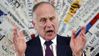 World Jewish Congress president Ronald Lauder speaks with journalists at the foreign press space, downtown Rome, Italy, on October 28, 2015. Photo courtesy of REUTERS/Remo Casilli