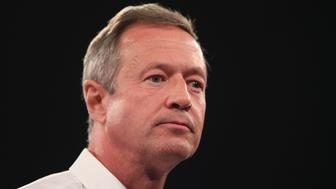 DES MOINES, IA - OCTOBER 24:  Democratic presidential candidate Martin O'Malley speaks to guests at the Jefferson-Jackson Dinner on October 24, 2015 in Des Moines, Iowa. The dinner is a major fundraiser for Iowa's Democratic Party.  (Photo by Scott Olson/Getty Images)