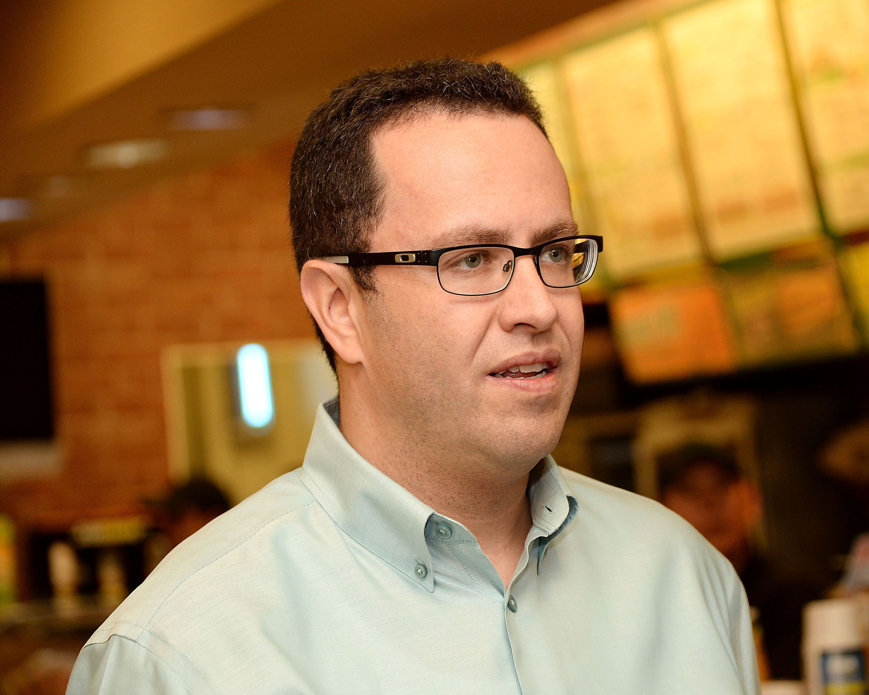 NEW YORK, NY - AUGUST 28:  Jared 'The SUBWAY Guy' Fogle speaks at the Star Wars Rebels Promotion Kick-Off at Subway Restaurant on August 28, 2014 in New York City.  (Photo by Ben Gabbe/Getty Images)