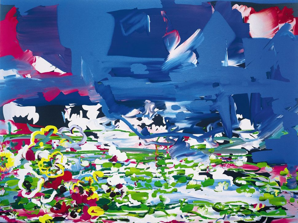 PETRA CORTRIGHT (b. 1986) Vampire Masquerade CR-ROM Gamez, 2013, digital painting on aluminum 48by64 in. 121.9 by 162.6 cm