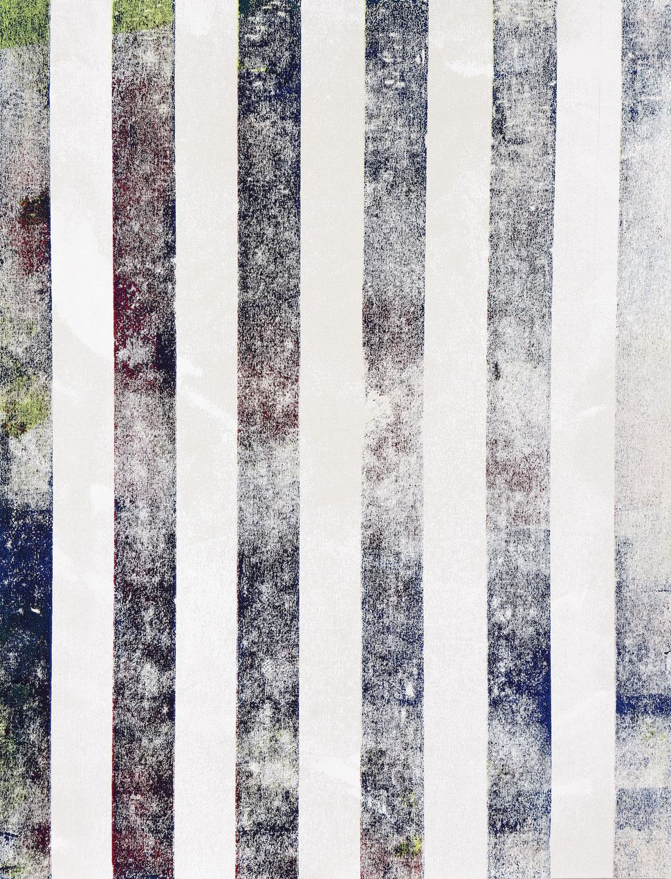 ISRAEL LUND (b.1980), Untitled (47), 2013 2013'on the overlap acrylic on canvas 44by34inches