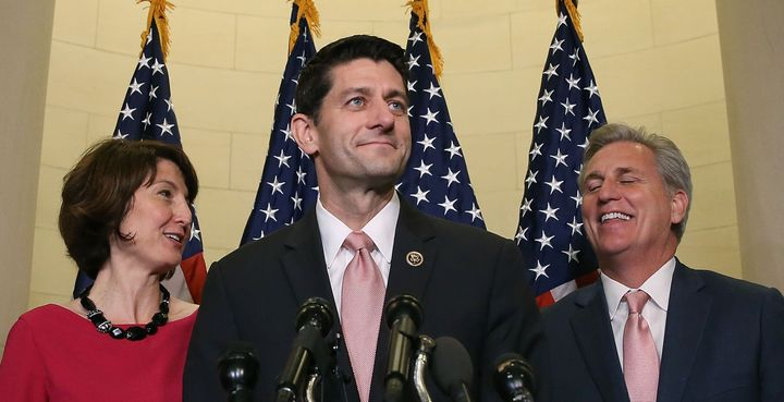Rep. Paul Ryan (R-Wis.) speaks to the press ahead of his confirmation as the new House Speaker.