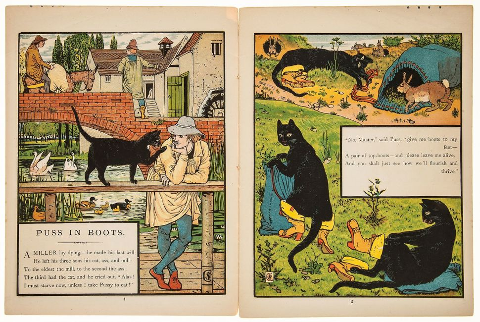 "121. English Editions.- Crane (Walter) Puss in Boots, ""Walter Crane's Toy Books"" series, colour illustratio"
