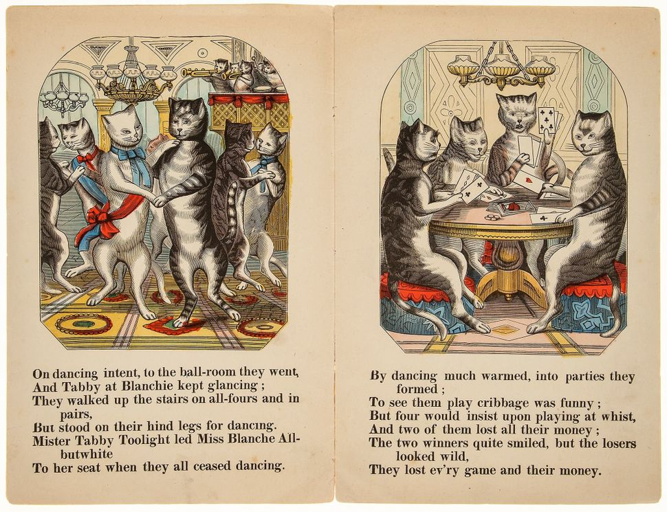21. Cat's Party (The), by Tom Mouser, Esq., 8 hand-coloured illustrations, original pictorial wrappers, worn, Read & Co.,