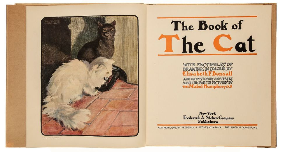 13. Bonsall (Elisabeth).- Humphreys (Mabel) <i>The Book of the Cat</i>, first American edition, printed in orange and black o