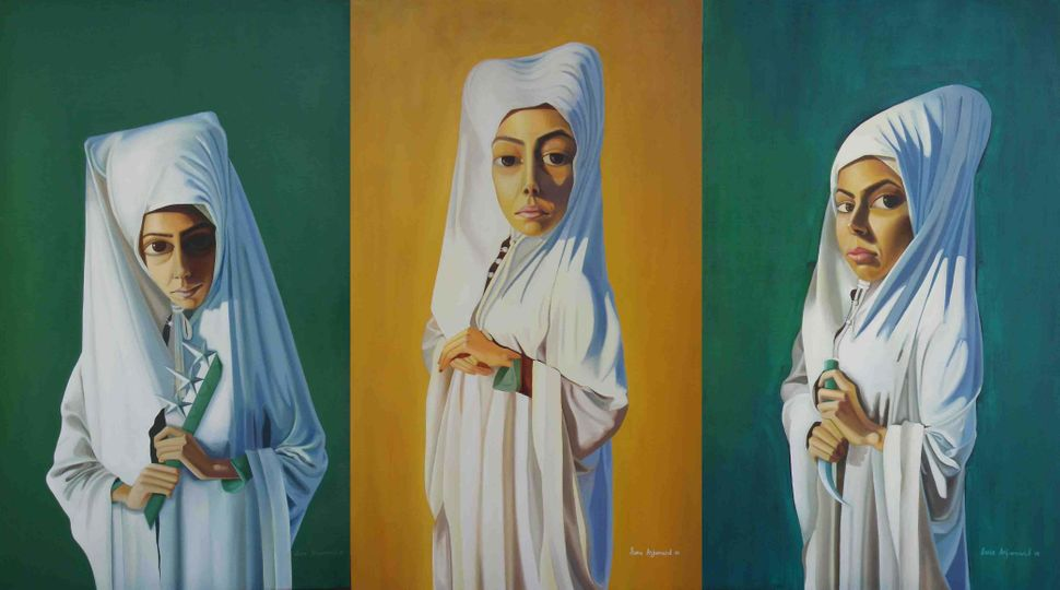 The painter Sana Arjumand earned notice for incorporating the Pakistani flag into eerie scenes of isolation. As she and the c