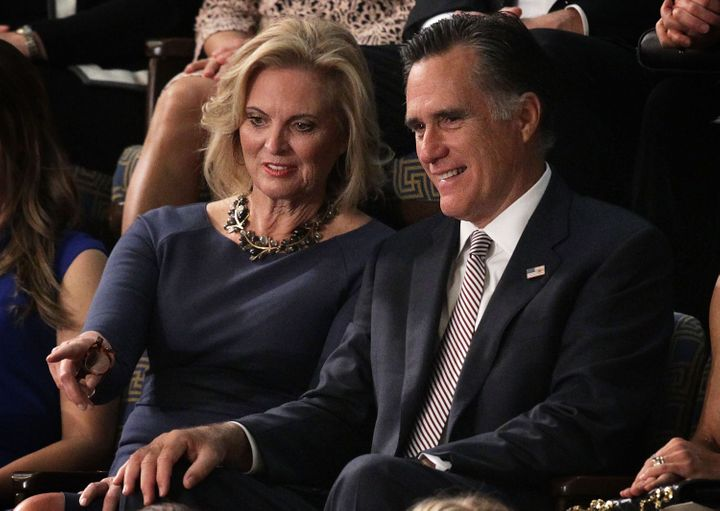 Mitt Romney and his wife, Ann, attended Ryan's election as speaker.