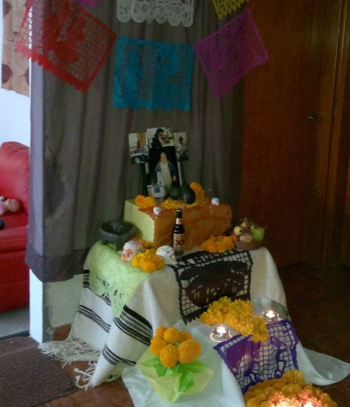 The altar in Dulce Porras-Goldstein's home from a previous year's Day of the Dead.