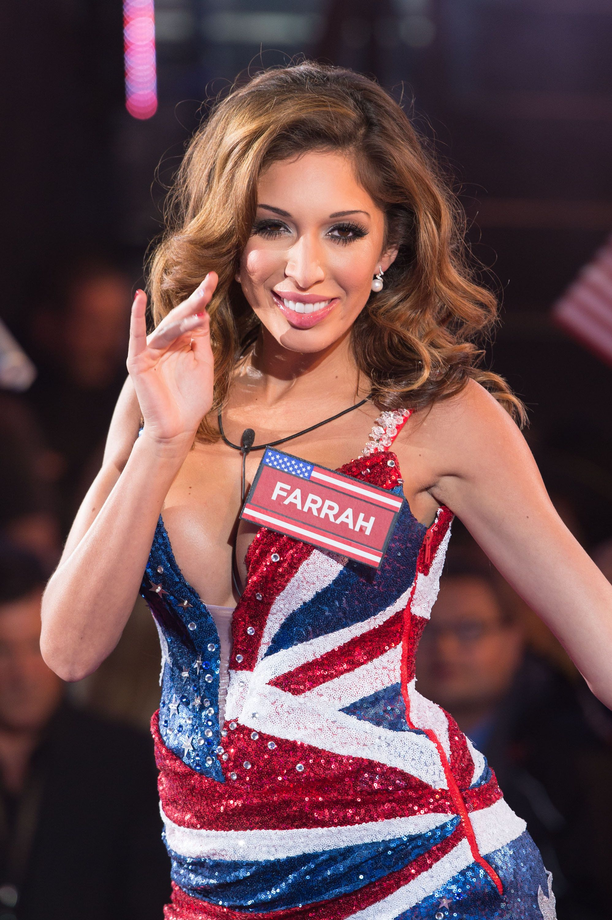 BOREHAMWOOD, ENGLAND - AUGUST 27:  Farrah Abraham enters the Celebrity Big Brother house at Elstree Studios on August 27, 2015 in Borehamwood, England.  (Photo by Ian Gavan/Getty Images)