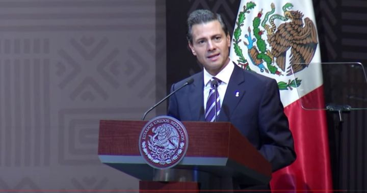 Mexican President Enrique Peña Nieto speaks at the inauguration of the Open Government Partnership Summit.