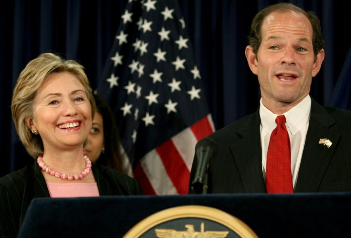 Then-Sen. Hillary Clinton (D-N.Y.) opposed the state's Democratic Gov. Eliot Spitzer on driver's licenses for undocumented immigrants in 2007.