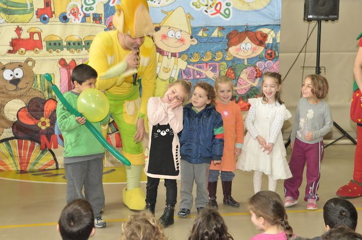 This is the Jaffa branch of Hand in Hand, in both Hebrew and Arabic, a school made up of four kindergarten and two first-grad