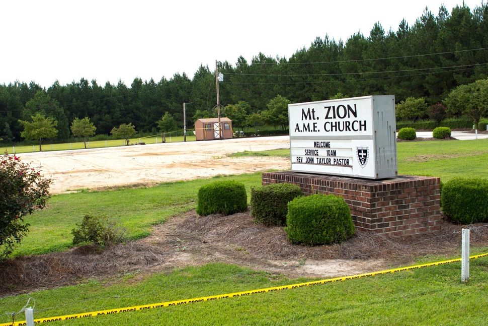 Where Mt. Zion AME Church once stood in Greeleyville, South Carolina.