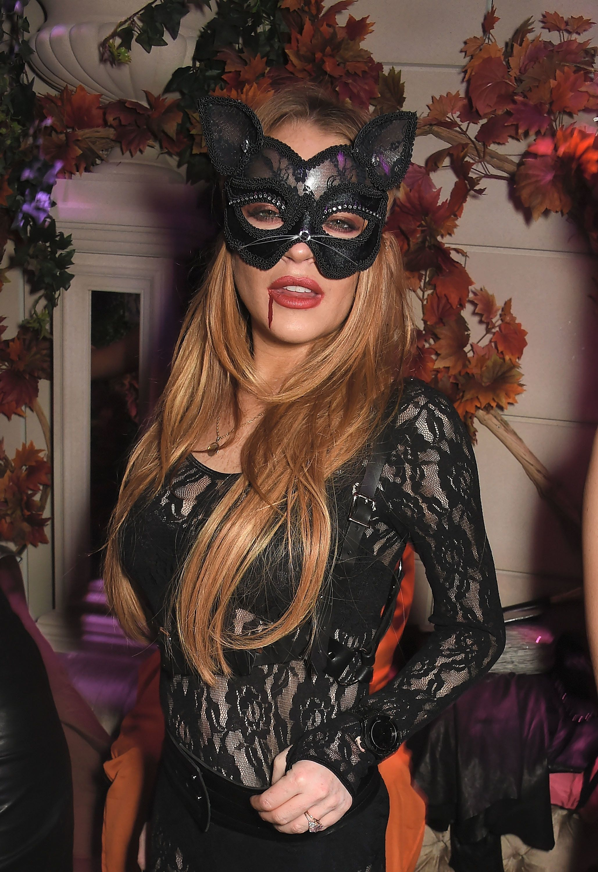 LONDON, ENGLAND - OCTOBER 28:  Lindsay Lohan attends as The Cuckoo Club and Fran Cutler present The Asylum at The Cuckoo Club supported by Grey Goose on October 28, 2015 in London, England.  (Photo by David M. Benett/Dave Benett/Getty Images)