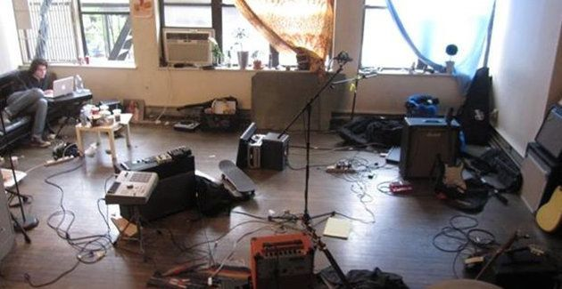 The common area full of gear.