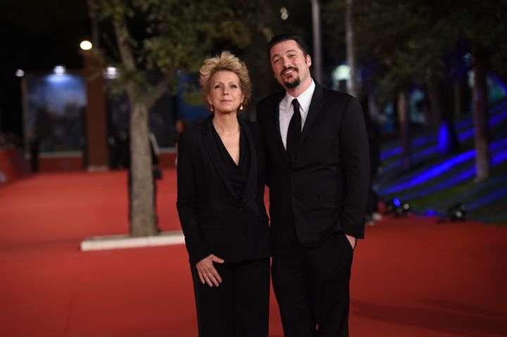 Mary Mapes and James Vanderbilt walk the red carpet at the Rome Film Festival on Oct. 16, 2015.