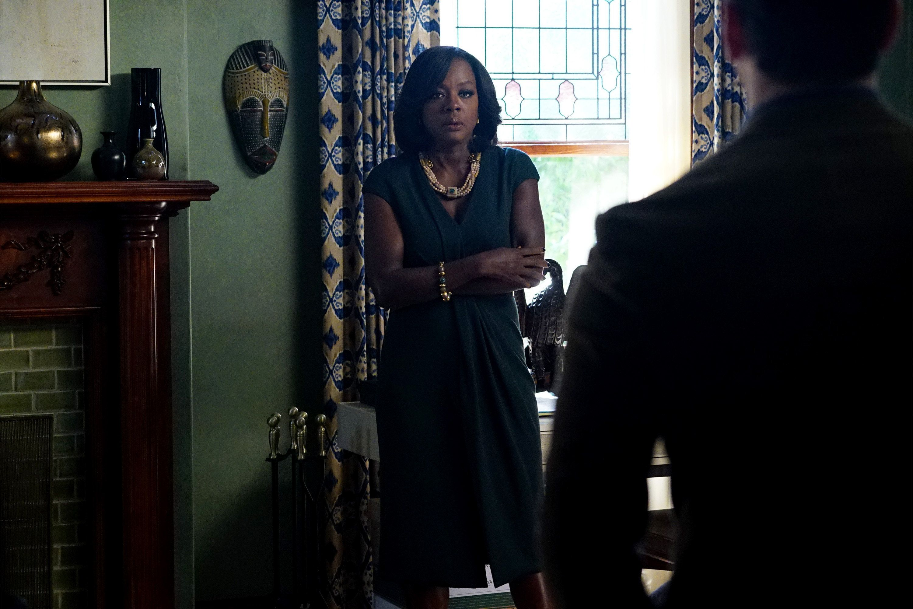 HOW TO GET AWAY WITH MURDER - 'Two Birds, One Millstone' - Annalise takes on a new client, a transgender professor accused of killing her husband. Meanwhile, the Keating 5 are left to handle the Hapstall case and they discover a shocking new suspect, on  'How to Get Away with Murder,' THURSDAY OCTOBER 29 (10:00-11:00 p.m., ET) on the ABC Television Network. (Photo by Richard Cartwright/ABC via Getty Images)