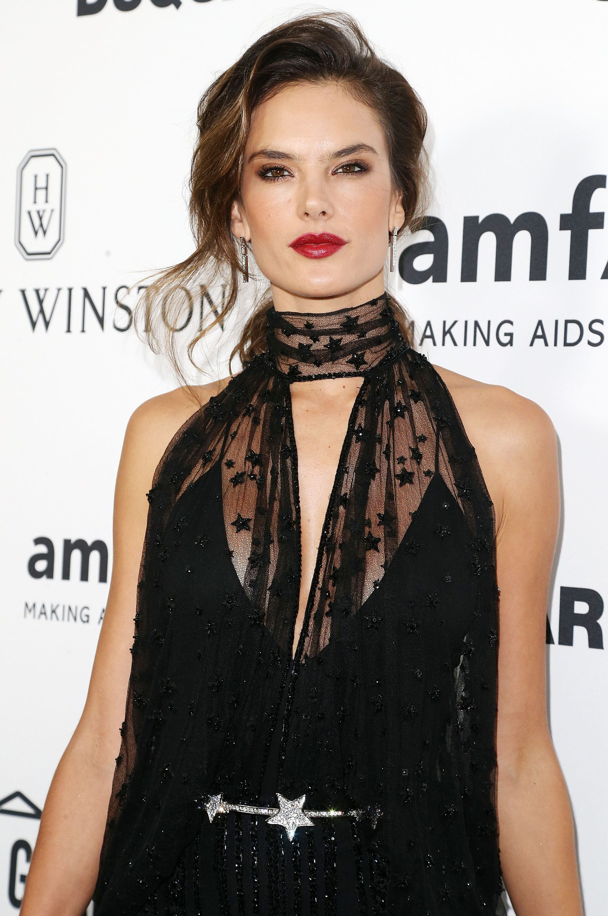 HOLLYWOOD, CA - OCTOBER 29:  Model Alessandra Ambrosio attends amfAR's Inspiration Gala Los Angeles at Milk Studios on October 29, 2015 in Hollywood, California.  (Photo by Frederick M. Brown/Getty Images)