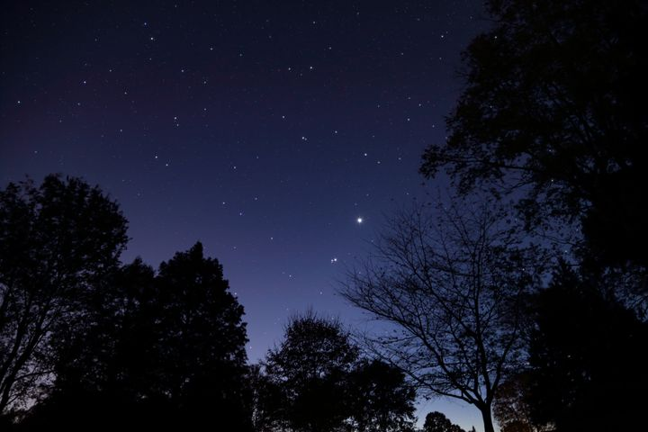Stargazers out before dawn have been treated all week to the rare sight of Venus, Mars and Jupiter all brightly visible.