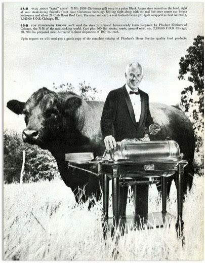 """""""The steer was offered either on the hoof for $1,925 or in 300 pounds of steaks, roast, ground beef, etc. for $2,230. We sold"""