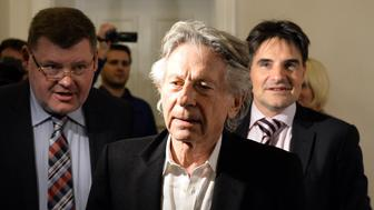 Roman Polanski attends a press conference after the announcement at the regional court in Krakow on October 30, 2015 not to extradite him to the United States to face sentencing for raping a 13-year-old girl in 1977. AFP PHOTO/JANEK SKARZYNSKI        (Photo credit should read JANEK SKARZYNSKI/AFP/Getty Images)