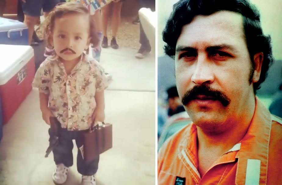 The Internet is ided over whether a toddleru0027su0026nbsp;controversial Pablo Escobar Halloween costume is appropriate  sc 1 st  HuffPost & Toddler In Pablo Escobar Costume Stirs Up Halloween Controversy ...