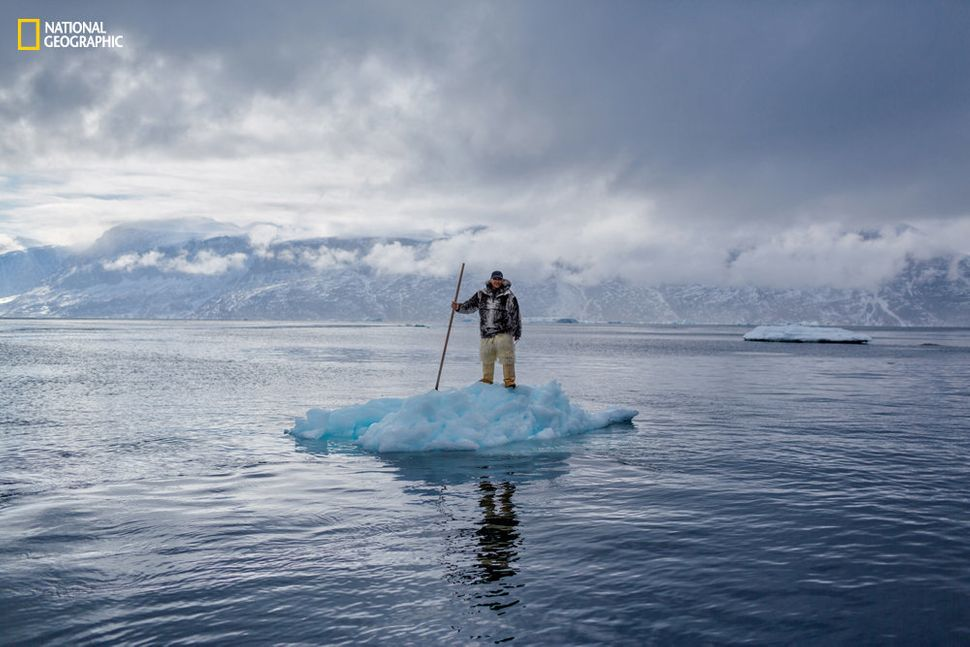 Slovenian photographer Ciril Jazbec traveled to Uummannaq Fjord, Greenland, to photograph the human face of climate change.