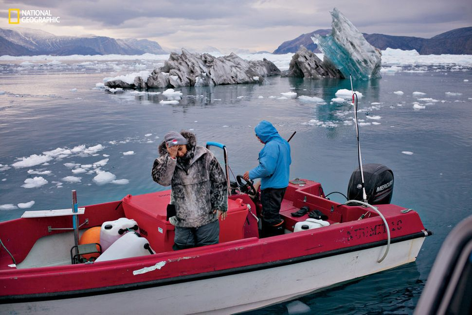 "The melting of the glaciers has also made it harder for hunters and fishermen to hunt for food. ""Sometimes they work all"