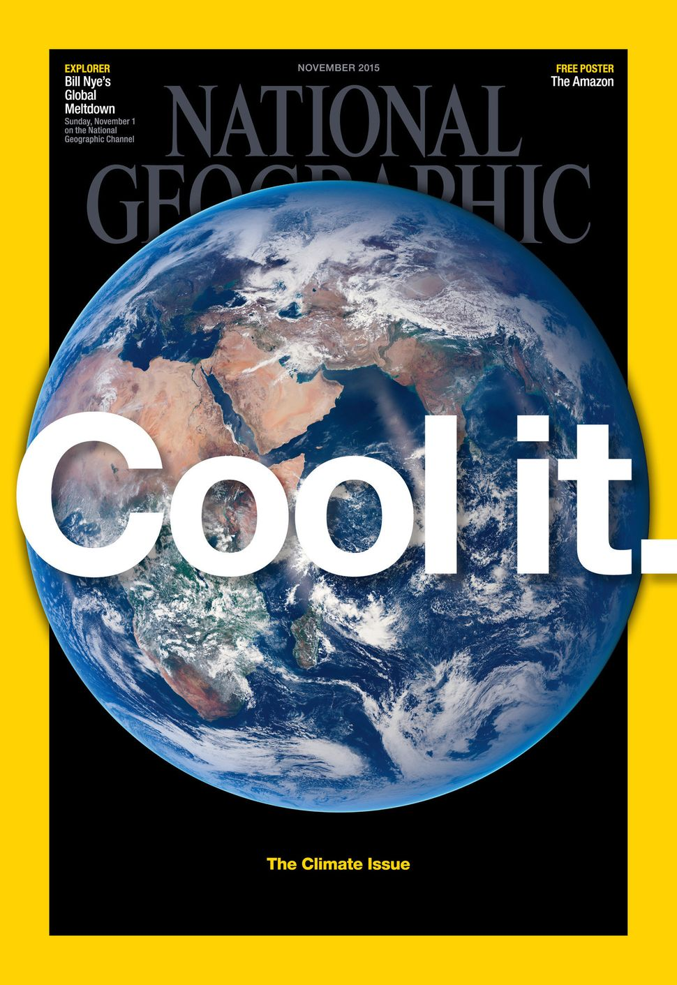 Jazbec's photos are featured in National Geographic's November 2015 issue on climate change.