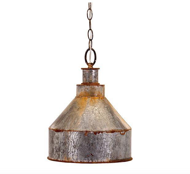 "<i><a href=""http://www.dotandbo.com/collections/at-the-trading-post/39268-damon-pendant-light"" target=""_blank"">Damon Pendant Light, $99</a></i>"