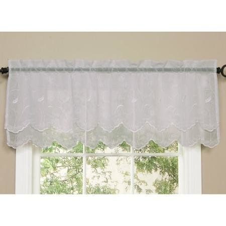 """<i><a href=""""http://www.walmart.com/ip/Commonwealth-Hathaway-Double-Scalloped-Valance/17707816"""" target=""""_blank"""">Commonwealth Hathaway Double Scalloped Valance, $17</a></i>"""