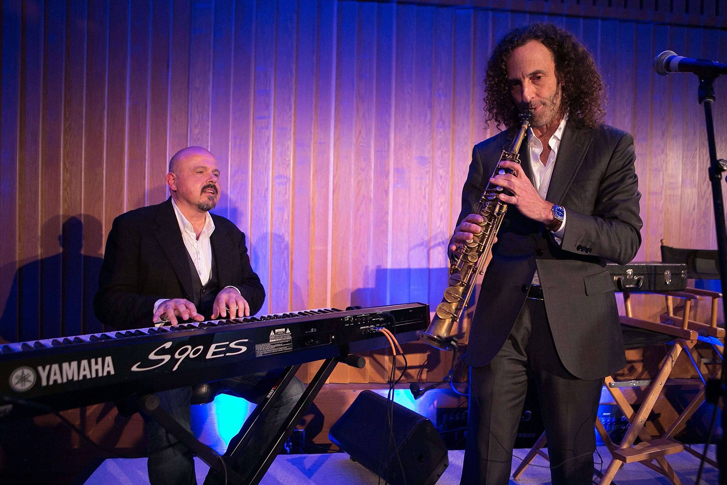 HOLLYWOOD, CA - DECEMBER 17:  Kenny G attends the ISINA Collaboration Announcement at Capitol Recording Studios Holiday Party at Capitol Records Studio on December 17, 2014 in Hollywood, California.  (Photo by Gabriel Olsen/FilmMagic)