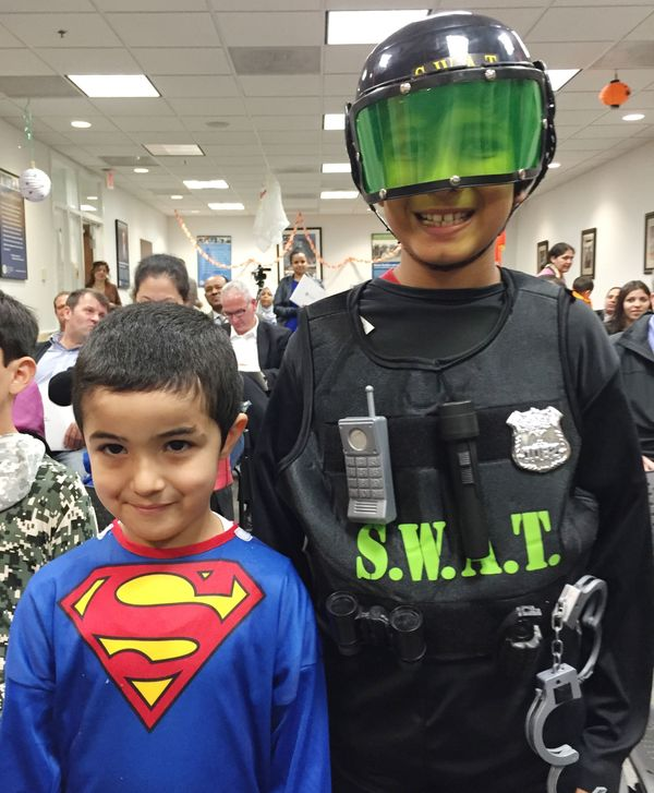 The boys&nbsp;were born in&nbsp;Libya and went for Halloween as Superman and a SWAT team officer.<br><br>Abdurhman said the b