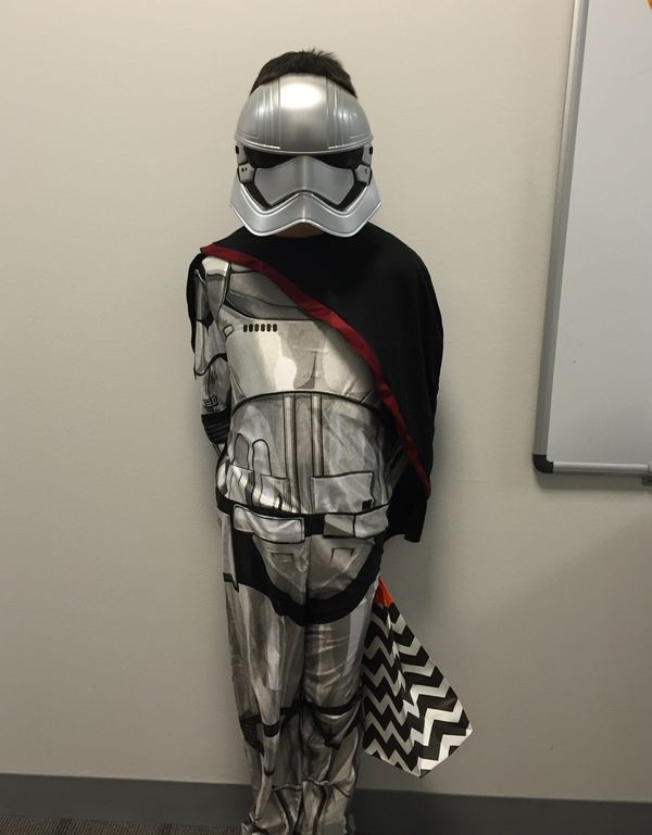 "Esteban, who was born in El Salvador, dressed as&nbsp;Captain Phasma from the new Star Wars movie.&nbsp;<br><br>""I feel great"