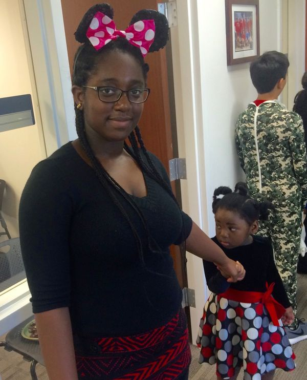 "Beatrice, who is originally from Ghana, dressed as Minnie Mouse.&nbsp;<br><br><strong></strong>""I get to follow my dreams,"""