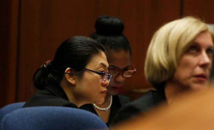Defendant Hsiu-Ying 'Lisa' Tseng, left, listens during jury instructions along with her defense attorney Tracy Green (R) at t