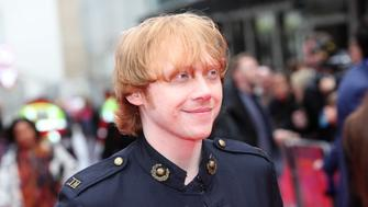 LONDON, ENGLAND - MAY 11:  (EMBARGOED FOR PUBLICATION IN UK TABLOID NEWSPAPERS UNTIL 48 HOURS AFTER CREATE DATE AND TIME. MANDATORY CREDIT PHOTO BY DAVE M. BENETT/WIREIMAGE REQUIRED)  Rupert Grint attends the World Premiere of 'Postman Pat' at Odeon West End on May 11, 2014 in London, England.  (Photo by Dave M. Benett/WireImage)
