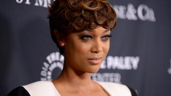 LOS ANGELES, CA - OCTOBER 26:  TV Personality/Model Tyra Banks attends the Paley Center For Media's Hollywood Tribute To African-American Achievements in Television, Presented by JPMorgan & Co. on October 26, 2015 in Los Angeles, California.  (Photo by Michael Kovac/Getty Images for Paley Center For Media)