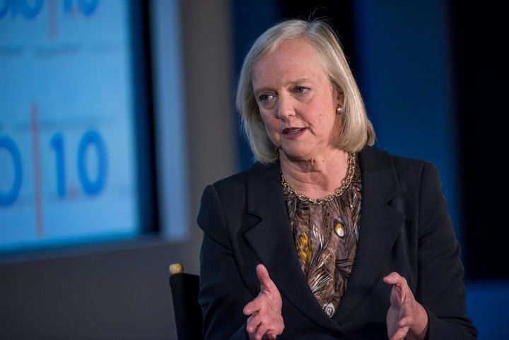 Hewlett-Packard CEO Meg Whitman says Carly Fiorina'slack of political experience pretty much disqualifies her for the j