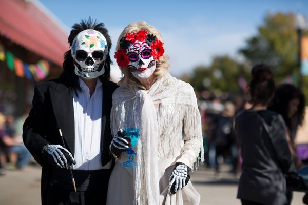 Bruce Britt and Kieth Porter tour during the Dia de los Muertos (Day of the Dead) celebration, November 1, 2015 in Oklahoma C