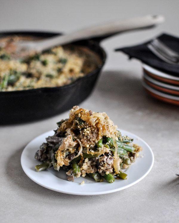 """<strong>Get the <a href=""""http://www.howsweeteats.com/2012/11/lightened-up-fresh-green-bean-casserole/"""">Whole Wheat Green Bean"""