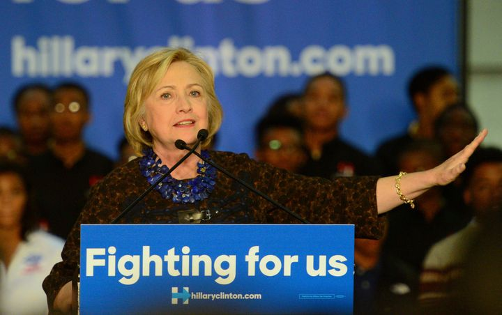 Hillary Clinton speaks to supporters during an event at Clark Atlanta University on Oct. 30.