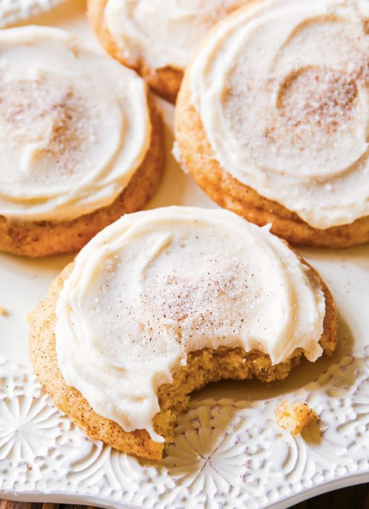 """<strong>Get the <a href=""""http://sallysbakingaddiction.com/2014/10/31/frosted-chai-spice-snickerdoodles/"""" target=""""_blank"""">Fros"""