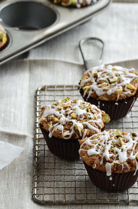 "<strong>Get the <a href=""http://www.anediblemosaic.com/?p=12149"">Pistachio-Chai Muffins recipe</a> from An Edible Mosaic</str"