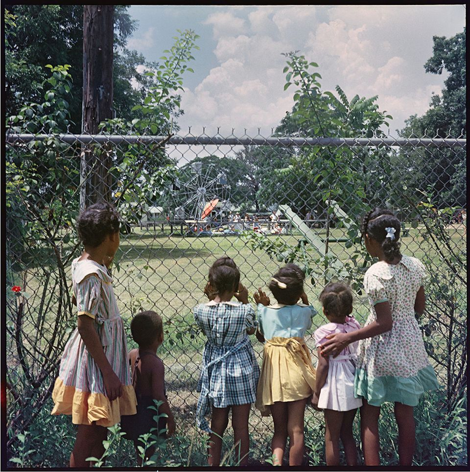 "<span class='image-component__caption' itemprop=""caption"">Gordon Parks Outside Looking In, Mobile, Alabama, 1956 Archival Pigment Print</span>"