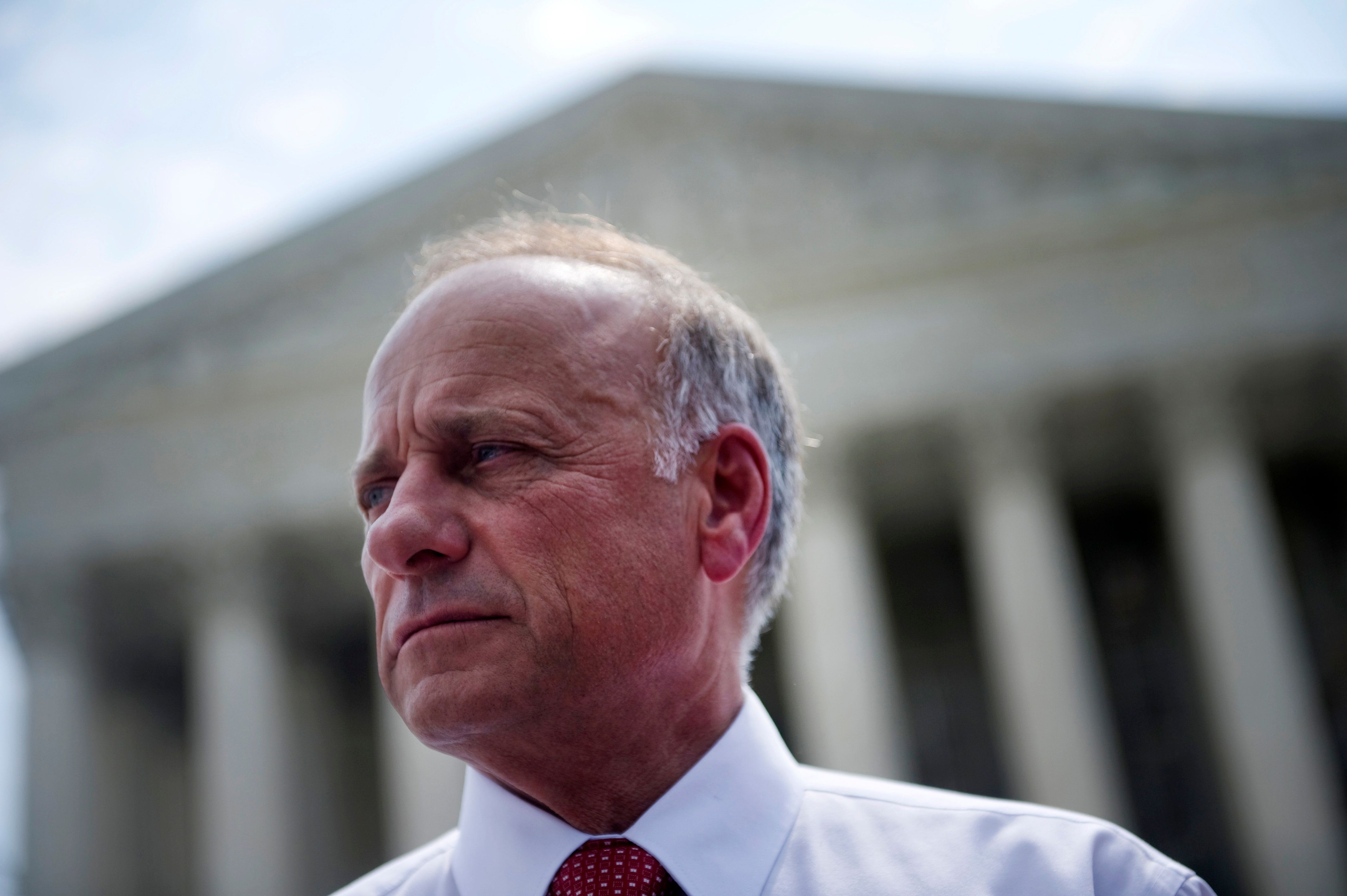 UNITED STATES - JUNE 28: Rep. Steve King, R-Iowa, after speaking to disappointed opponents of the Affordable Care Act. The Supreme Court's decided to uphold the law, voting 5-4. (Photo by Chris Maddaloni/CQ Roll Call)