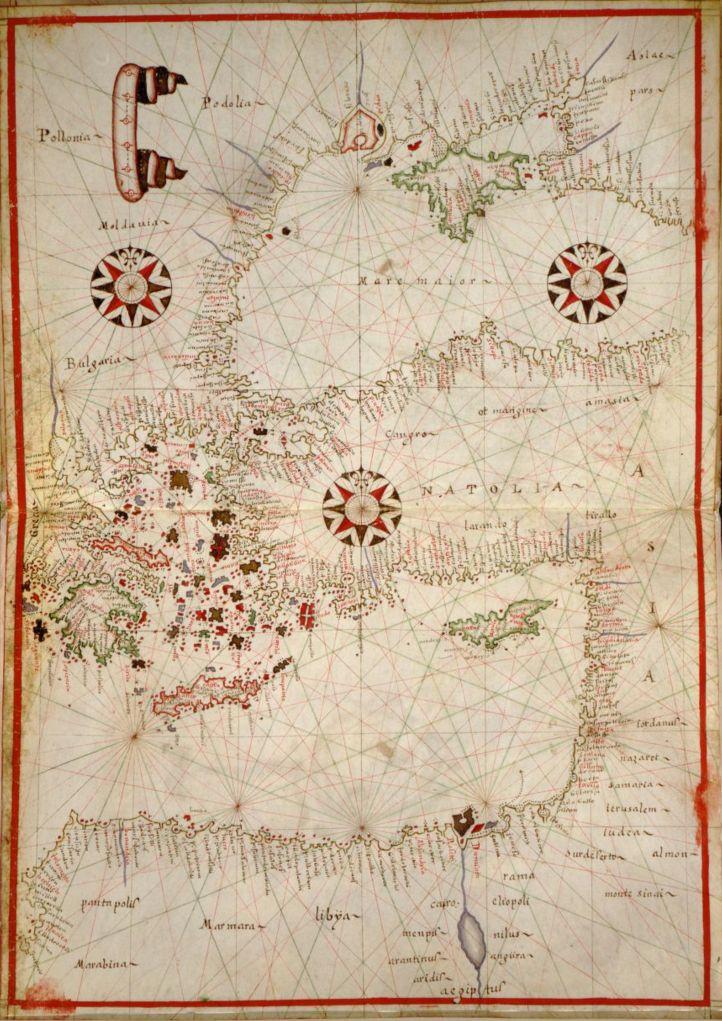 Portolan atlas of the Mediterranean Sea, 1590.