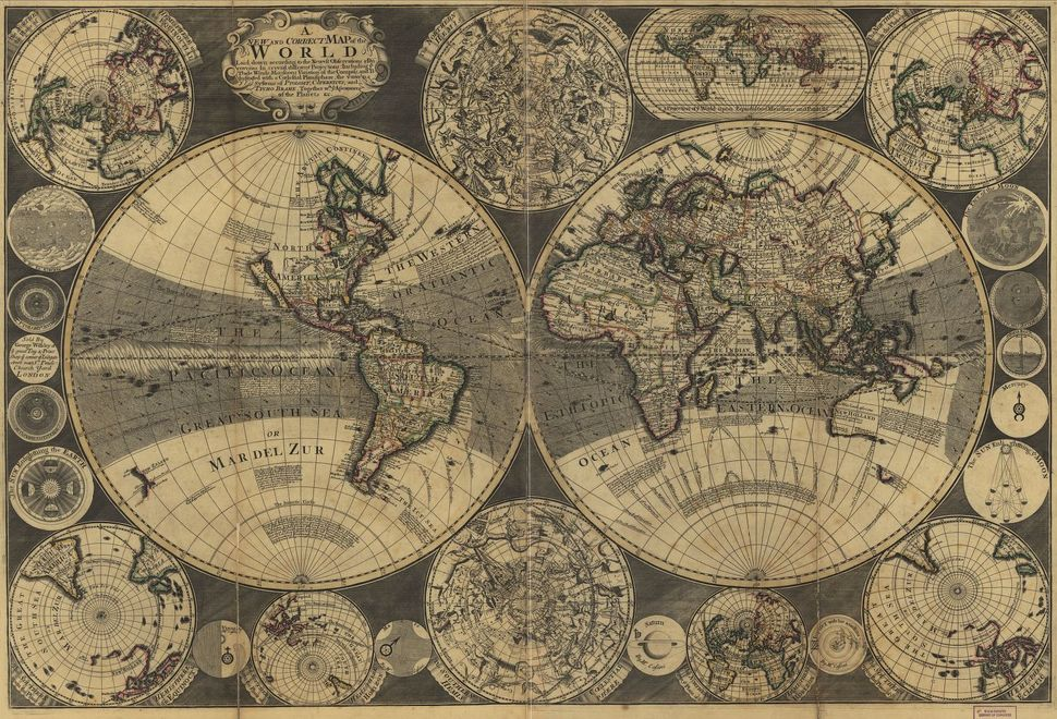 A new and correct map of the world : laid down according to the newest observations, 1702.