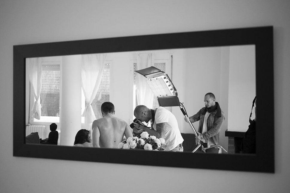 <i>Marta shooting a scene.</i>
